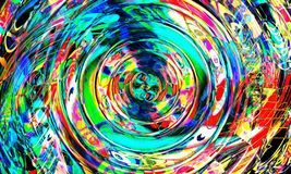 The Abstract Colorful Ripple royalty free illustration