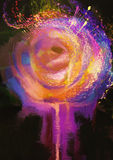 Abstract colorful rose. Abstract painting of colorful rose Stock Photography
