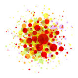 Abstract colorful round background Stock Image