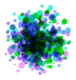 Abstract colorful round background Stock Photography