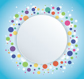 Abstract colorful round circle background. EPS10 Royalty Free Stock Image
