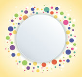 Abstract colorful round circle background. EPS10 Royalty Free Stock Photo