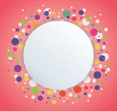 Abstract colorful round circle background. EPS10 Stock Image
