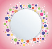 Abstract colorful round circle background. EPS10 Royalty Free Stock Photos