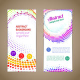 Abstract colorful round composition stock illustration