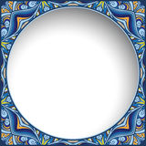 Abstract colorful round frame Royalty Free Stock Image