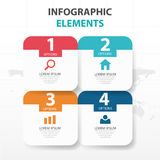 Abstract colorful round rectangle business Infographics elements, presentation template flat design vector illustration for web. Design marketing advertising royalty free illustration