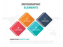 Abstract colorful round rectangle business timeline Infographics elements, presentation template flat design vector illustration Royalty Free Stock Photo