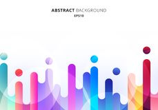 Free Abstract Colorful Rounded Lines Transition Elements On White Background With Circles Bokeh Stock Photos - 148501933