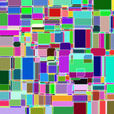 Abstract colorful rounded square background. Stock Photography