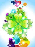 Abstract colorful  sant patrick background Stock Images
