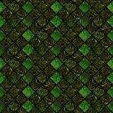 Abstract colorful seamless pattern on black background. Mosaic ornament in dark green and yellow colors. Fantasy fractal design for wallpapers or fabric Stock Images