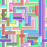 Abstract colorful seamless pattern resembling a maze Royalty Free Stock Photos