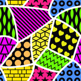 Abstract colorful seamless pattern. Stock Photo
