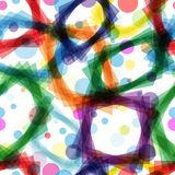 Abstract colorful seamless pattern Stock Photos