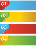 Abstract Colorful Set Of Banner. Abstract Colorful Set Of Banner Vector.EPS 10 Royalty Free Stock Photography