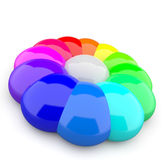 Abstract colorful shape. 3d illustration of an abstract colorful shaped with rounded sides Royalty Free Stock Photography