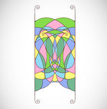 Abstract colorful shape, element for ornament. Stock Image