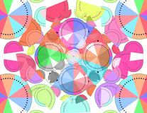 Abstract colorful shaped watermelon. Royalty Free Stock Image
