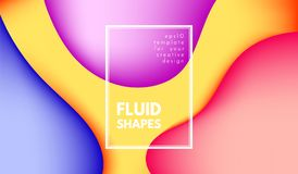 Abstract Colorful Shapes with 3d Effect. royalty free illustration