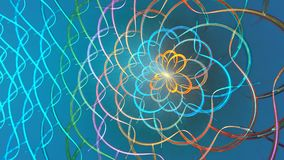Abstract colorful shapes spinning like a carousel or in a kaleidoscope. High detailed. stock footage
