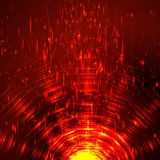 Abstract colorful shining circle tunnel Stock Image