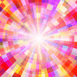 Abstract colorful shining circle tunnel vector background. EPS10 Stock Photography