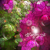 Abstract colorful shining circle vector background Royalty Free Stock Photography