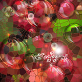 Abstract colorful shining circle vector background Stock Photo