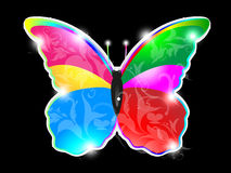 Abstract colorful shiny butterfly Stock Photos