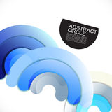 Abstract colorful shiny circle or ring overlapping on white Stock Images
