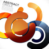 Abstract colorful shiny circle or ring overlapping on white Stock Photography
