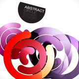 Abstract colorful shiny circle or ring overlapping on white Stock Photo