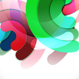 Abstract colorful shiny circle or ring overlapping on white Stock Photos