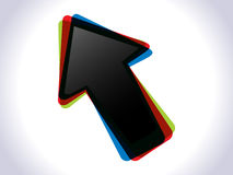 Abstract colorful shiny cursor icon Royalty Free Stock Image