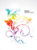 Abstract colorful shiny rainbow floral. Illustration royalty free illustration