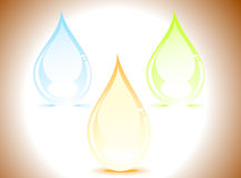 Abstract colorful shiny water drops Royalty Free Stock Photo