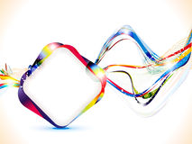 Abstract colorful shiny wave background Stock Photo