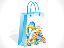 Abstract colorful shopping bag Royalty Free Stock Image
