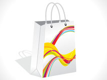 Abstract colorful shopping bag Royalty Free Stock Photos