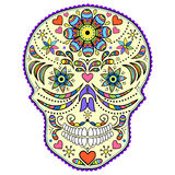Abstract Colorful Skull Royalty Free Stock Images
