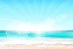 Abstract Colorful Sky Sea Blur Horizon Background. With Copy Space Vector Illustration Royalty Free Stock Photo
