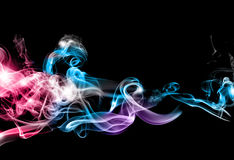 Abstract colorful smoke royalty free stock photos