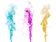 Abstract colorful smoke Stock Photography