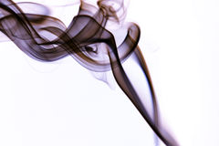 Abstract colorful smoke background. Colorful smoke curls isolated on white Royalty Free Stock Images