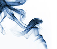 Abstract colorful smoke background. Colorful smoke curls isolated on white Stock Image