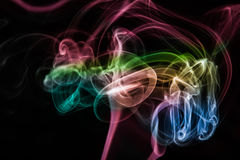 Abstract colorful smoke background Stock Photo
