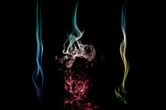 Abstract colorful smoke Stock Images