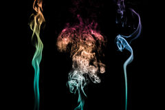 Abstract colorful smoke Stock Image