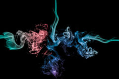 Abstract colorful smoke Stock Photo